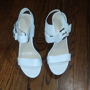 Used Kelly & Katie white platform heels